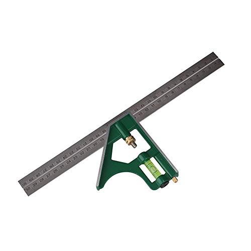 SISHUINIANHUA 300 MM Quadrat Lineal Multifunktions Edelstahl Kombination Messwerkzeug # 40