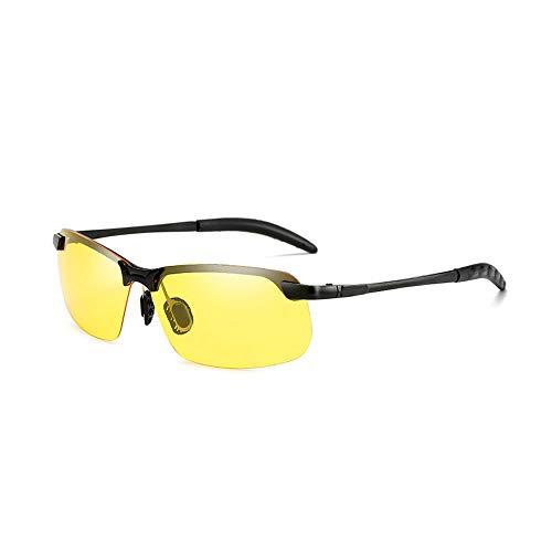 xinzhi Tag und Nacht Brille, Wechselnde Sonnenbrillen bei Tag Polarisierte Sonnenbrillen bei Nacht und Nachtsicht - # 4, Black Frame Night Vision