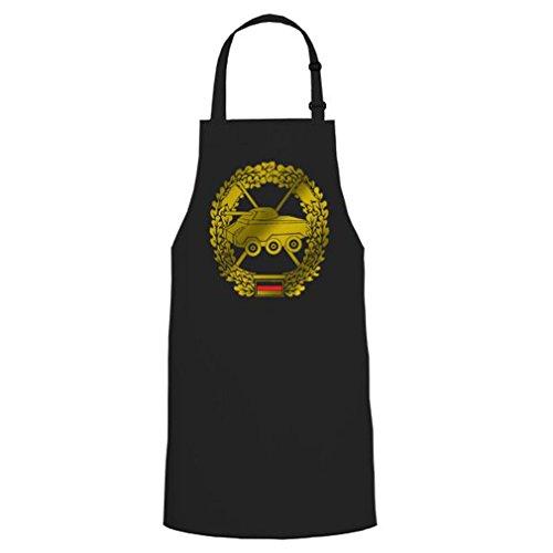 pzaufkl Char aufklärer Béret Badge Insigne emblème armoiries BW Griller Party cadeau unique – Tablier/Tablier de barbecue # 16834 - Noir - Taille unique