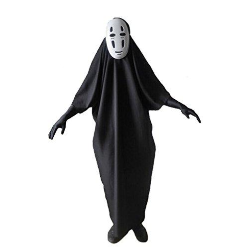 Cosplay Kostüm Chihiro - Dreamowl Herren Erwachsene Chihiros Kein Gesicht männlich Cosplay MasksGloves Halloween-Partei-Kostüm x-small schwarz
