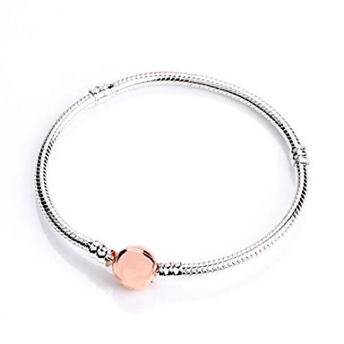 en S925 Sterling Silber Schlange Kette Rotgold Klassische Buckle Armband ()