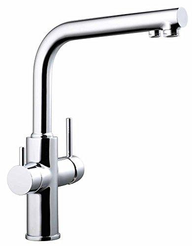 Clever Osmosis Caiman – Grifo de cocina con 2 salidas agua