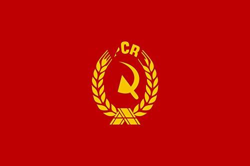 | Communist Party of Romania | Partidului Comunist Român | Querformat Fahne | 0.06m² | 20x30cm für Flags Autofahnen ()
