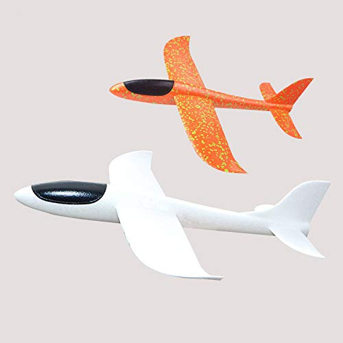 Jingyuan Modellflugzeug aus Schaumstoff zum Werfen; Segelflugzeug, 2Flugmodi, zum Werfen mit der Hand im Freien, Spielzeug