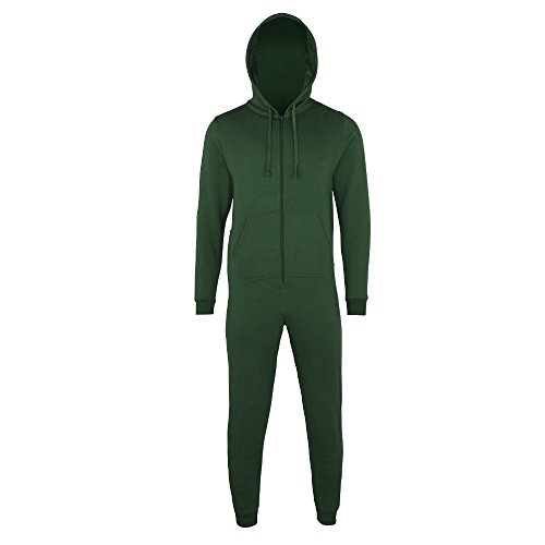 Comfy Co - Jumpsuit 'All-in-One' Bottle Green