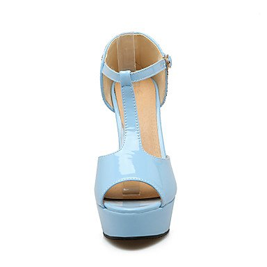 LvYuan Damen-Sandalen-Büro Kleid Party & Festivität-PU-Blockabsatz-Club-Schuhe-Schwarz Blau Rosa Black