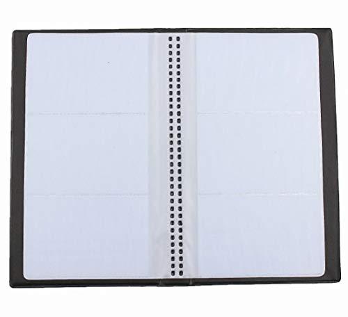 Clafund Organizador de libros de notas para diario de negocios, capacidad para 240 tarjetas (negro)