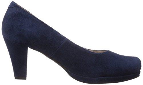 Andrea Conti - 0596497, Scarpe con plateau Donna Blu (Blau (dunkelblau 017))