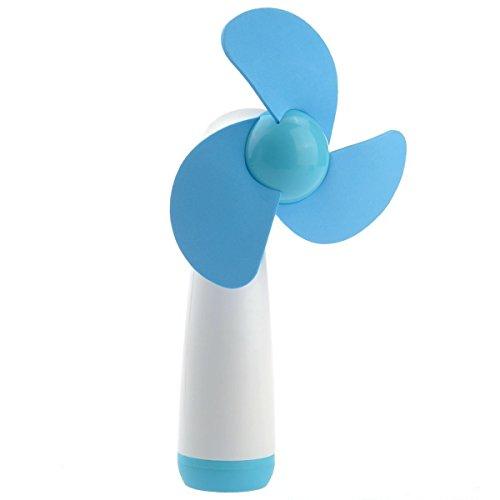 ebener Handheld Mini Fan der Weichschaum Blades Lüfter Blau (Batteriebetriebener Hand-fans)