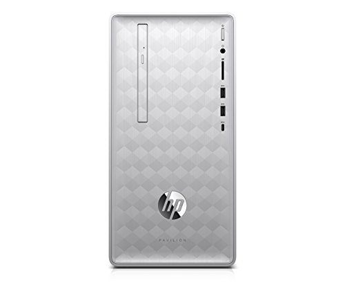 HP Pavilion 590-p0508ng Desktop PC (AMD Ryzen 3, 8 GB DDR4 RAM, 256 GB SSD, AMD Radeon Vega 8, Windows 10 Home) silber
