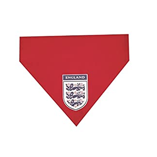 artytarty englandfootbal kit dog bandana flag one size fits all, simply slips over your dogs collar red 31 2BK9vbAa7L