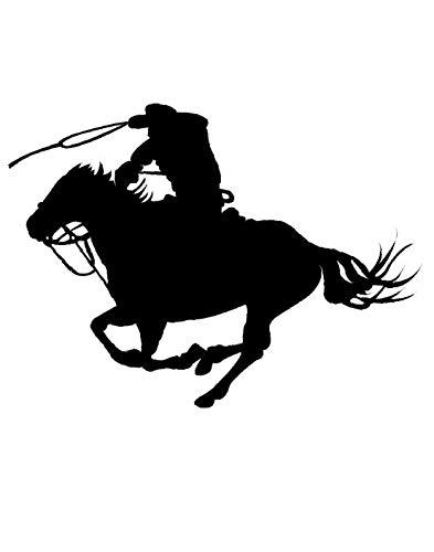 jiushizq Mann Reiten Pferderennen Silhouette Wandaufkleber Abziehbilder Home Wohnzimmer Spezielle Mode Dekor Wandbild Pferd Serie Wm 53x71 cm