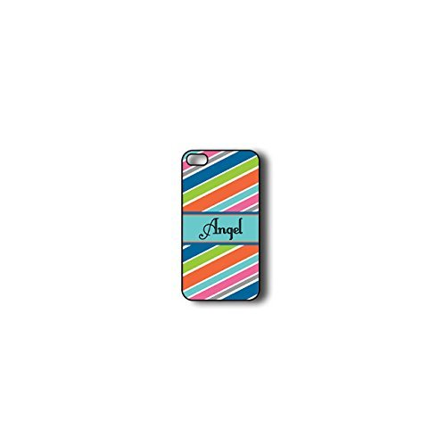 krezy monogramme iPhone 6cas, Colorful Stripes Coque iPhone 6monogramme, MONOGRAMME iPhone 6cas, iPhone 6Coque