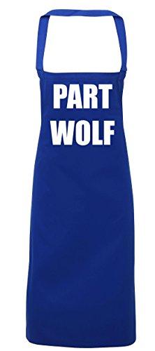 hippowarehouse Teil Wolf Schürze Küche Kochen Malerei DIY Einheitsgröße Erwachsene, königsblau, (Wolf Halloween Kostüm Diy)