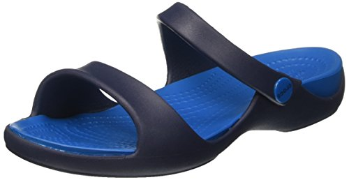 Crocs Cleo V Sandal W Nvy/ulmr, Sandales  Bout ouvert femme Bleu (Navy/Ultramarine)