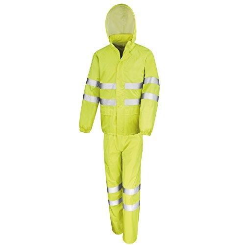 Result Safeguard - Completo Alta Visibilità Impermeabile - Adulti/Unisex (XL) (Giallo)