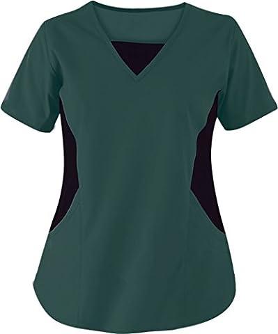 TAILOR Women's Scrub / Nursing Uniforms/ Medical Scrubs Top (L,