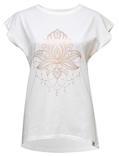 Yogistar Yoga-t-Shirt Batwing ?Celestial Flower? – Ivory/Copper