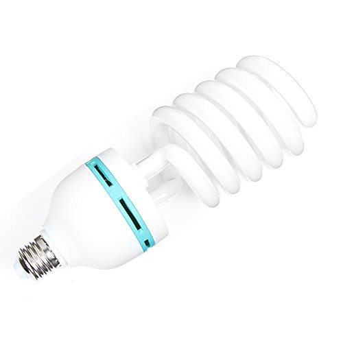 Fotga 85W 230V E27 5500K Energiesparende CFL Fotostudio Bulb Video Fotografie Daylight Licht Lampe (Energiesparende Spiral)