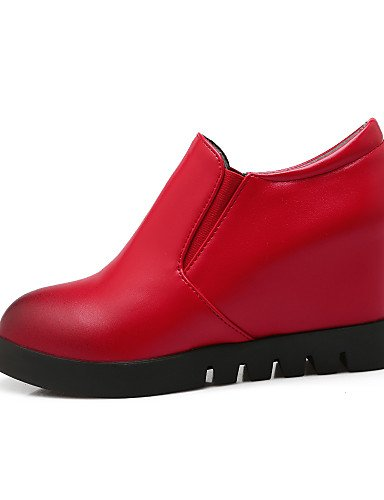 ZQ hug Scarpe Donna-Scarpe col tacco-Formale-Tacchi / Plateau-Zeppa-Finta pelle-Nero / Rosso , red-us10.5 / eu42 / uk8.5 / cn43 , red-us10.5 / eu42 / uk8.5 / cn43 red-us7.5 / eu38 / uk5.5 / cn38