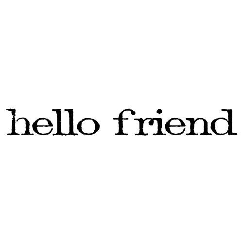 """Preisvergleich Produktbild Tim Holtz Mounted Red Rubber Stamp .75""""X2.5""""-Hello Friend"""