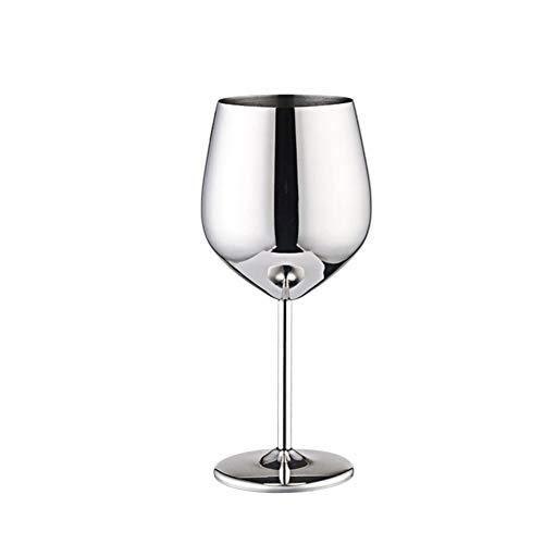 EZIZB 2 Stück Bruchsichere Weingläser Edelstahl Weingläser Kupfer Spiegel Finish Drinkware Edelstahl Becher Für Ihren Genuss 500ML
