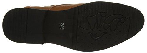 DADAWEN Homme Classique Commercial Leather Chaussure Bout Pointu Kaki