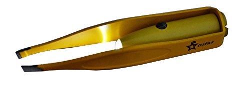 Pinzette für Wimpern, gelb–mit Licht