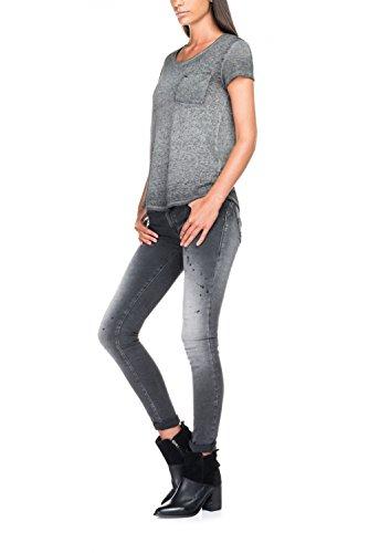 Salsa Shirt Gris avec Poche Devant - Femme Noir
