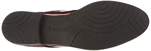 Bugatti - V5107pr9, Scarpe stringate basse derby Donna Rosso (Rot (dunkelrot 303))