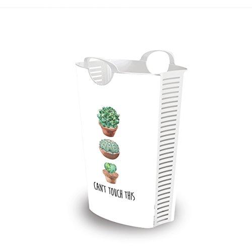 Life story cesta portabiancheria con manici e fori di ventilazione, cesto per lavanderia per camera da letto o bagno, molto resistente, polipropilene, 53×40×65 cm, 58l