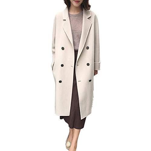 Toasye Ausverkauf Frauen Herbst Winter Lange Ärmel Umlegekragen Knopf Mantel, Damen Einfarbig Freizeitjacke Outwear