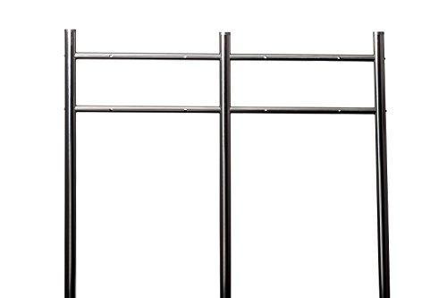 Doppel Briefkastenständer Edelstahl 120 cm hoch in Silber HPB38254, Briefkastenständer für 2 Briefkästen mit Befestigungsmaterial zum Verschrauben in der Erde Rostfrei