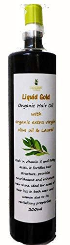 Cheveux avec de l'huile extra vierge Huile d'Olive et de laurier (Laurier) – 200 ml