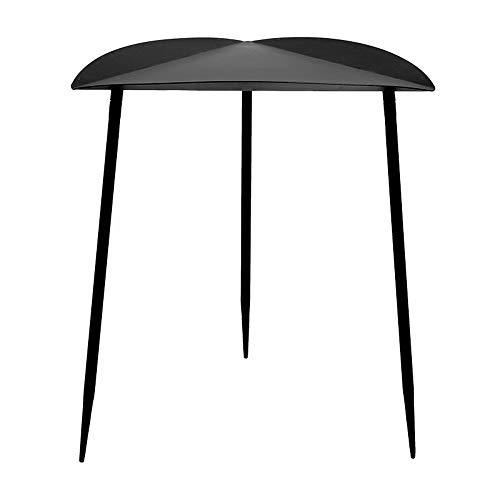 LXZ#Homegift Beistelltisch Modernen Minimalistischen Schmiedeeisen Couchtisch Kreative Dreieck Tisch Schwarz Couchtisch Schlafzimmer Wohnzimmer, H43.5cm (Beistelltische Wohnzimmer Schwarz)