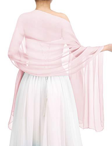 bbonlinedress Schal Chiffon Stola Scarves in verschiedenen Farben Pink 180cmX72cm