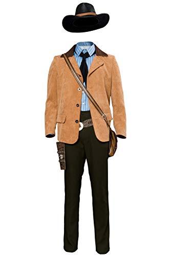 MingoTor Anime Superheld Outfit Cowboy Cosplay Kostüm Herren M