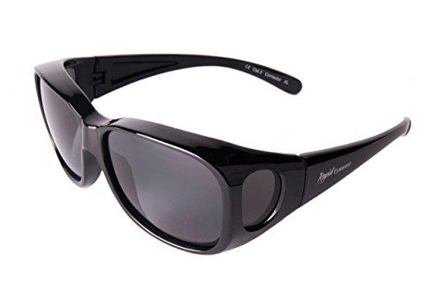Rapid Eyewear SUR-LUNETTES DE SOLEIL Noires Polarisées, pour hommes et  femmes, taille 32d6e10a88c5