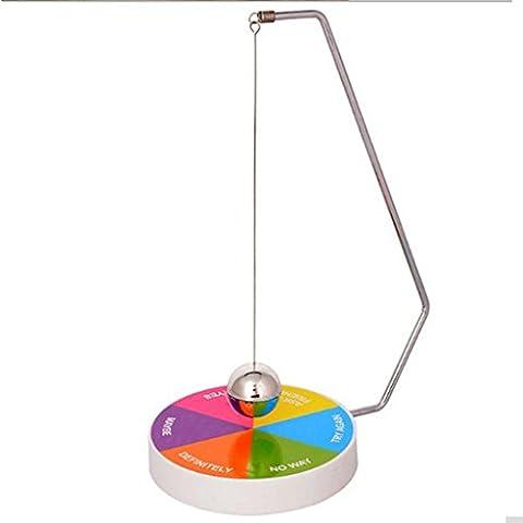 Edealing (TM) Magic Novelty Decision Maker Pendule magnétique Fun Jouet de bureau exécutif Toy Fun (coloré)