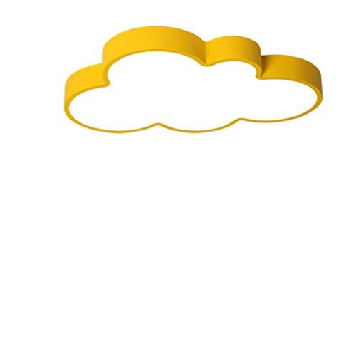 LED Lampe Chambre moderne, plafonnier Motif nuages enfants Lampe Multicolore Lampe de Plafond UltraSlim Éclairage Lampe d'éclairage plafond Leuchten Direkt Lumière Blanc 45 x 32 cm * 5 cm jaune