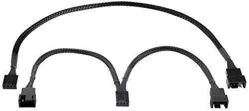 Poppstar PWM Lüfter Kabel Set 4-Pin (15cm Y-Kabel (1x Buchse auf 2X Stecker) + 30cm Verlängerungskabel), zum Anschluss von Prozessor- und Gehäuselüfter an Mainboard -