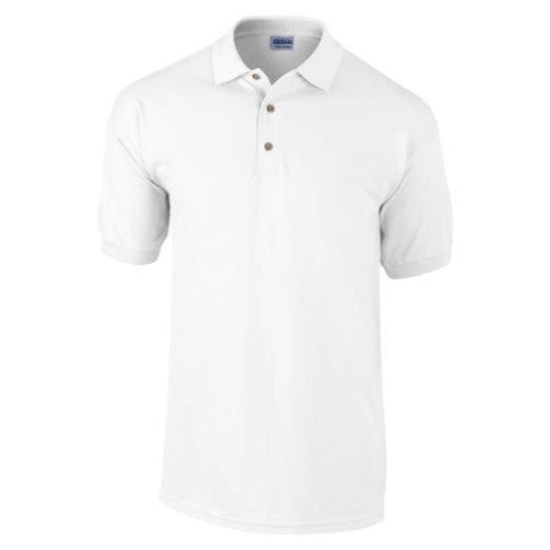 Gildan Ultra Herren Piqué Polo-Shirt, Kurzarm L,Weiß (Polo-shirt Pique)