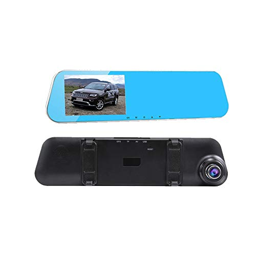 ZHY Spiegel-HD-Recorder, Full-HD-1080P-Dualobjektiv-Vollbildkamera 4-Kern-Prozessor wasserdichte Videoaufzeichnung 170 ° Weitwinkel Wasserdicht für alle Modelle.