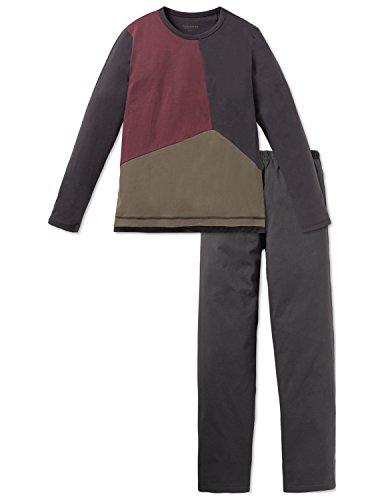 Schiesser Jungen Rebel Anzug lang Zweiteiliger Schlafanzug, Grau (Anthrazit 203), 152 (Herstellergröße: S)