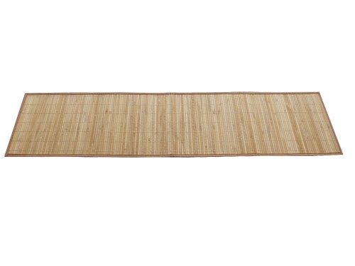 2 Bambus-Tischläufer in heller Holzoptik, Maße ca. 35x133cm