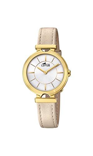Lotus Watches Femme Analogique Classique Quartz Montre avec Bracelet en Cuir 18452/1