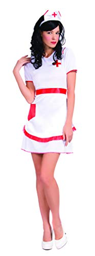 YT Electric Halloween Kostüm Damen Blutig Verkleidung Cosplay Zombie Krankenschwester Nurse Outfit Horror Maskerade Weiß
