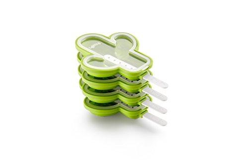 Lékué 4Kaktus Popsicle Form Pack, Silikon, Grün, 18x 12,1x 30cm