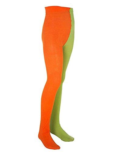 Pippi Langstrumpf Kinder Strumpfhose Lizenzware orange grün 98-110
