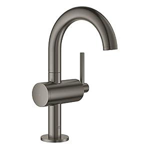 GROHE Atrio Lavabo de baño Grafito – Grifos de baño (Lavabo de baño, Grafito, Grifos de palanca, Solo, 1/2″, Tipo C)